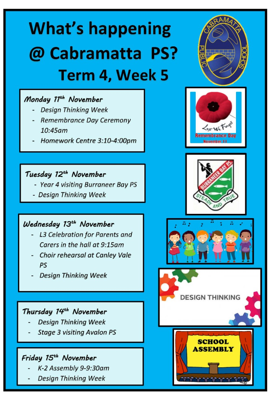 What's happening at Cabramatta Public School this week.